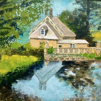 The gate house & pond, Falkland Estate