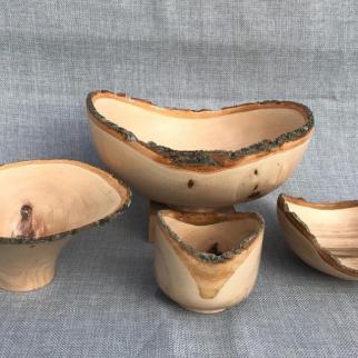Natural edged Ash bowls