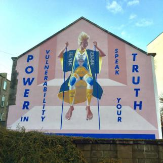Gable end mural completed October 2019, Tay street Lane, Dundee