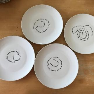 Putting Words in your Mouth dinner plates