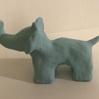 Nell. Clay elephant character.