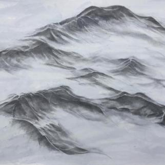 Water Patterns II - graphite and acrylic on paper