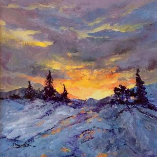 Acrylic painting, 24 x 24cm