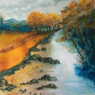 Watercolour painting, 18 x18cm