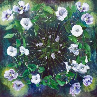 Painting by Kirsty Lorenz inspired by plants, magic and medicine