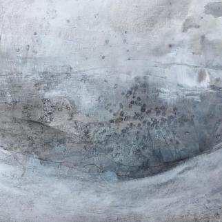 Submerged - Mixed media and sea water drawing on paper