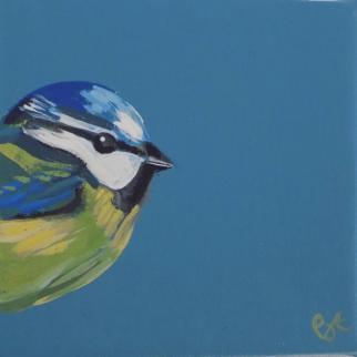 Blue Tit acrylic on canvas pjtopleyart