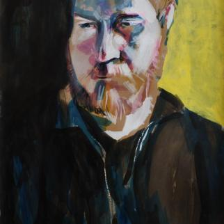 Portrait of Sam Coloured ink, gesso and acrylic paint 84x60cm