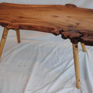 Burr elm coffee table 860mm long, 600mm wide and 400mm high. One of a pair. £250 per table, £450 the pair