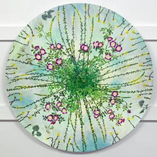 Painting by Kirsty Lorenz inspired by an old herbalist respiratory recipe