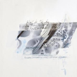 watercolour and indian ink drawing  palimpsest