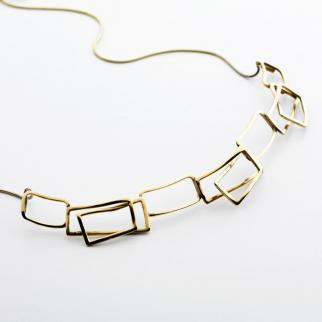 Eco gold component commission necklace