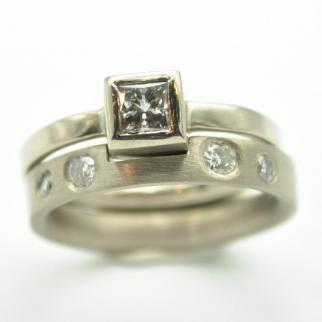 Fitted Diamond Wedding and engagement rings