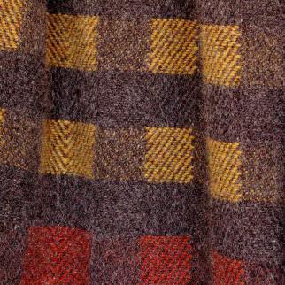 Shetland wool throw.