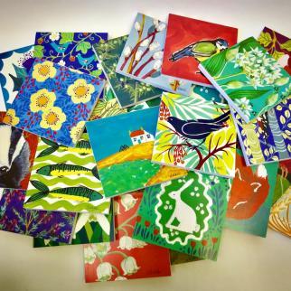 Colourful Louise Wedderburn notebooks