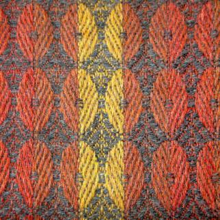Detail of hand-woven fabric. Shetland wool.