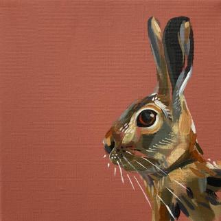 Hare acrylic on canvas pjtopleyart