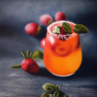 Mocktail Heaven, Oil on Board