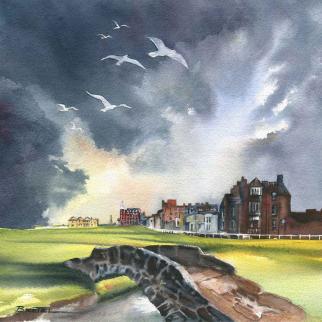 Watercolour - 'Swilcan Bridge, Old Course'