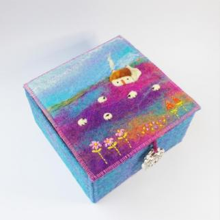Scottish Tweed and Felt Keepsake Box
