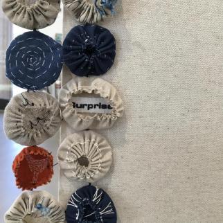 Textile hanging detail