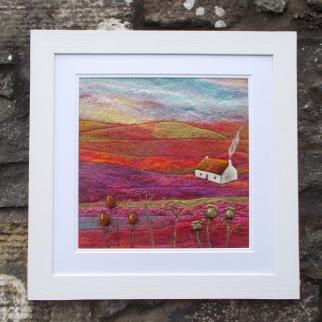 Teasel Cottage, Fibre Art Framed Picture