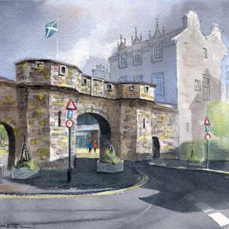 Watercolour - 'West Port St Andrews'