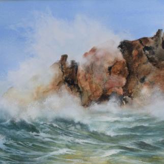 Eileen Gardner Waves on Rocks