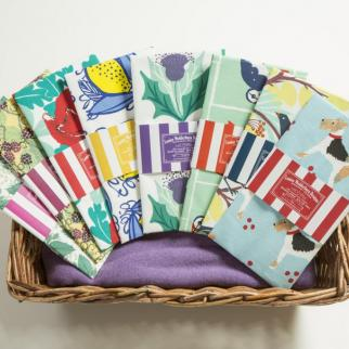 Screen printed Louise Wedderburn Tea Towels