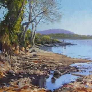 Balmerino Beachcombing oil on linen