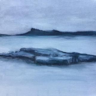 Lindsay Mathers Eigg from Arisaig painting