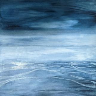 Lindsay Mathers Sea Painting oil ripple