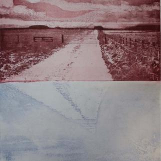Snow road - Etching