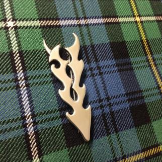 Silver stag kiltpin