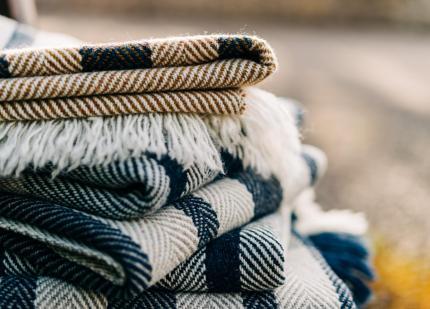 Handwoven woollen blankets