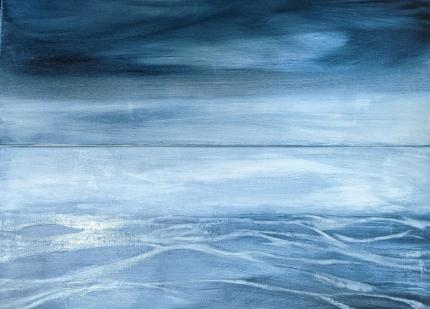 Lindsay Mathers Water Patterns Sea painting Oil